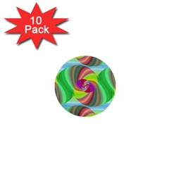 Seamless Pattern Twirl Spiral 1  Mini Buttons (10 Pack)