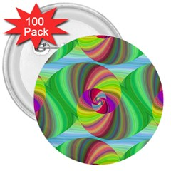 Seamless Pattern Twirl Spiral 3  Buttons (100 Pack)