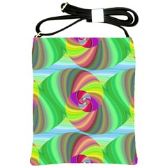 Seamless Pattern Twirl Spiral Shoulder Sling Bags by Sapixe