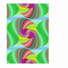Seamless Pattern Twirl Spiral Large Garden Flag (two Sides) by Sapixe