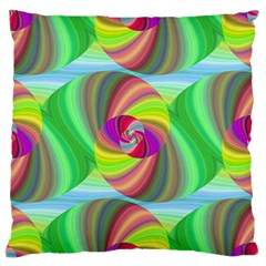 Seamless Pattern Twirl Spiral Large Flano Cushion Case (two Sides) by Sapixe