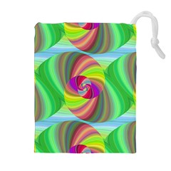 Seamless Pattern Twirl Spiral Drawstring Pouches (extra Large)