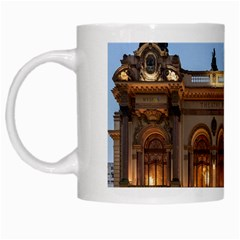 Municipal Theatre Of Sao Paulo Brazil White Mugs