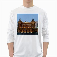 Municipal Theatre Of Sao Paulo Brazil White Long Sleeve T Shirts