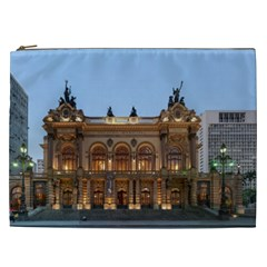 Municipal Theatre Of Sao Paulo Brazil Cosmetic Bag (xxl)