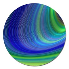 Space Design Abstract Sky Storm Magnet 5  (round) by Sapixe