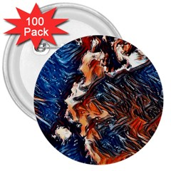 Wow Art Brave Vintage Style 3  Buttons (100 Pack)  by Sapixe