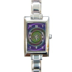 Spiral Fractal Digital Modern Rectangle Italian Charm Watch
