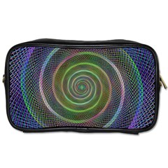 Spiral Fractal Digital Modern Toiletries Bags 2 Side by Sapixe
