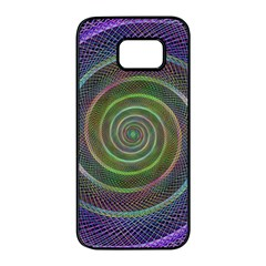 Spiral Fractal Digital Modern Samsung Galaxy S7 Edge Black Seamless Case