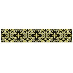 Golden Ornate Intricate Pattern Large Flano Scarf  by dflcprints