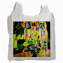 Lilac On A Counter Top 1 Recycle Bag (one Side) by bestdesignintheworld
