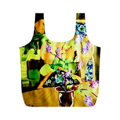 Lilac On A Counter Top 1 Full Print Recycle Bags (m)  by bestdesignintheworld