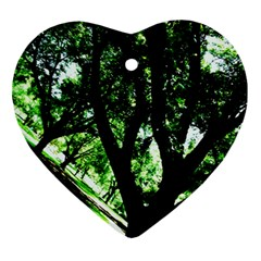 Hot Day In Dallas 28 Ornament (heart) by bestdesignintheworld