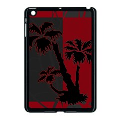 Red And Grey Silhouette Palm Tree Apple Ipad Mini Case (black)