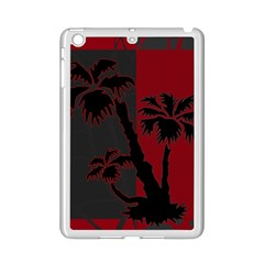 Red And Grey Silhouette Palm Tree Apple Ipad Mini 2 Case (white)