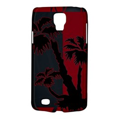 Red And Grey Silhouette Palm Tree Samsung Galaxy S4 Active (i9295) Hardshell Case