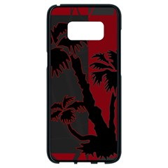 Red And Grey Silhouette Palm Tree Samsung Galaxy S8 Black Seamless Case