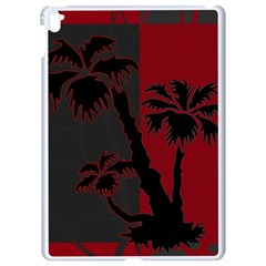 Red And Grey Silhouette Palm Tree Apple Ipad Pro 9 7   White Seamless Case
