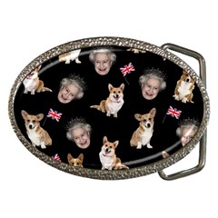 Queen Elizabeth s Corgis Pattern Belt Buckles by Valentinaart