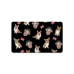 Queen Elizabeth s Corgis Pattern Magnet (name Card) by Valentinaart