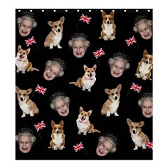 Queen Elizabeth s Corgis Pattern Shower Curtain 66  X 72  (large)  by Valentinaart