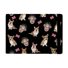 Queen Elizabeth s Corgis Pattern Apple Ipad Mini Flip Case by Valentinaart