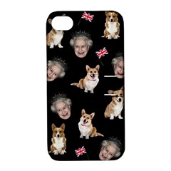 Queen Elizabeth s Corgis Pattern Apple Iphone 4/4s Hardshell Case With Stand by Valentinaart