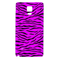 Hot Neon Pink And Black Tiger Stripes Galaxy Note 4 Back Case by PodArtist