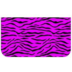 Hot Neon Pink And Black Tiger Stripes Lunch Bag by PodArtist