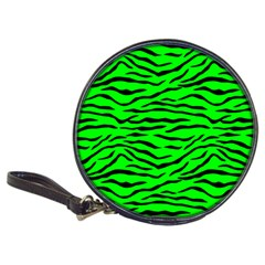 Bright Neon Green And Black Tiger Stripes  Classic 20 Cd Wallets by PodArtist