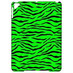 Bright Neon Green And Black Tiger Stripes  Apple Ipad Pro 9 7   Hardshell Case by PodArtist