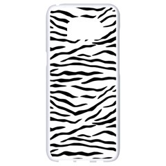 Black And White Tiger Stripes Samsung Galaxy S8 White Seamless Case