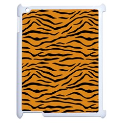 Orange And Black Tiger Stripes Apple Ipad 2 Case (white) by PodArtist
