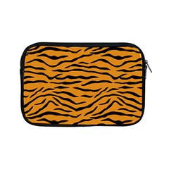 Orange And Black Tiger Stripes Apple Ipad Mini Zipper Cases by PodArtist