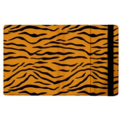 Orange And Black Tiger Stripes Apple Ipad Pro 9 7   Flip Case by PodArtist