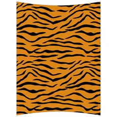 Orange And Black Tiger Stripes Back Support Cushion by PodArtist
