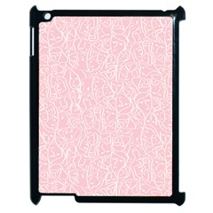 Elios Shirt Faces In White Outlines On Pale Pink Cmbyn Apple Ipad 2 Case (black) by PodArtist