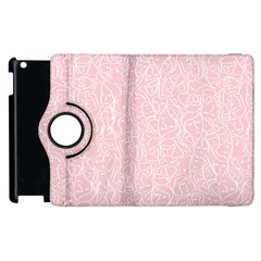Elios Shirt Faces In White Outlines On Pale Pink Cmbyn Apple Ipad 2 Flip 360 Case by PodArtist