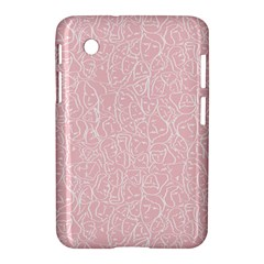 Elios Shirt Faces In White Outlines On Pale Pink Cmbyn Samsung Galaxy Tab 2 (7 ) P3100 Hardshell Case  by PodArtist