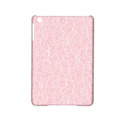 Elios Shirt Faces In White Outlines On Pale Pink Cmbyn Ipad Mini 2 Hardshell Cases by PodArtist