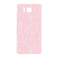Elios Shirt Faces In White Outlines On Pale Pink Cmbyn Samsung Galaxy Alpha Hardshell Back Case by PodArtist