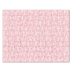 Elios Shirt Faces In White Outlines On Pale Pink Cmbyn Rectangular Jigsaw Puzzl by PodArtist
