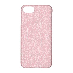 Elios Shirt Faces In White Outlines On Pale Pink Cmbyn Apple Iphone 8 Hardshell Case by PodArtist