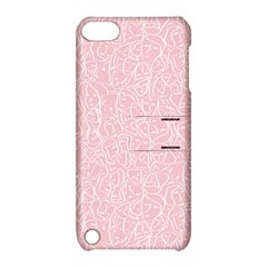 Elios Shirt Faces In White Outlines On Pale Pink Cmbyn Apple Ipod Touch 5 Hardshell Case With Stand by PodArtist