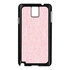 Elios Shirt Faces In White Outlines On Pale Pink Cmbyn Samsung Galaxy Note 3 N9005 Case (black) by PodArtist