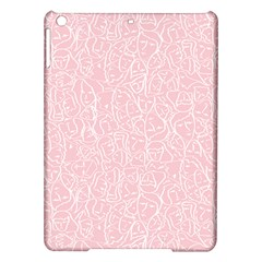 Elios Shirt Faces In White Outlines On Pale Pink Cmbyn Ipad Air Hardshell Cases by PodArtist
