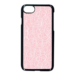 Elios Shirt Faces In White Outlines On Pale Pink Cmbyn Apple Iphone 7 Seamless Case (black) by PodArtist
