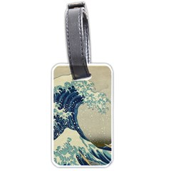 The Classic Japanese Great Wave Off Kanagawa By Hokusai Luggage Tags (one Side)  by PodArtist