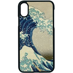 The Classic Japanese Great Wave Off Kanagawa By Hokusai Apple Iphone X Seamless Case (black)